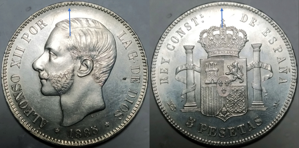 5 Pesetas 1885 (*18 *87 ). Alfonso XII. MSM - Página 2 A14