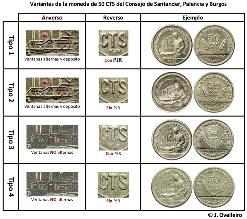 50 céntimos 1937. Consejo Santander, Palencia y Burgos.  A15