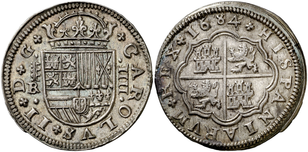 2 reales 1717 Segovia, Felipe V. Colección Manuela Etcheverría A17