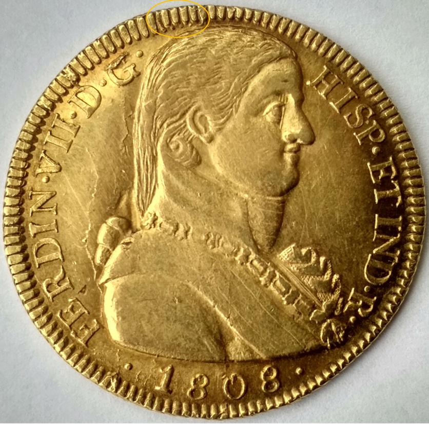 8 escudos Fernando VII. Santiago, 1808 A26