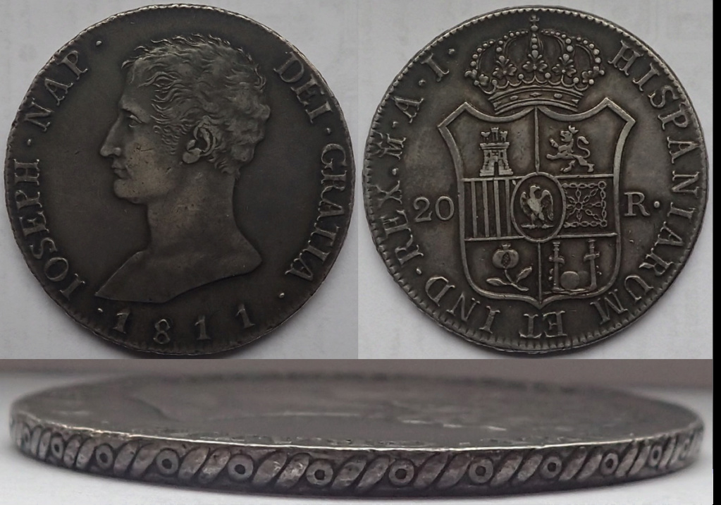 20 Reales. 1811. Jose Napoleon. Madrid. AI A36