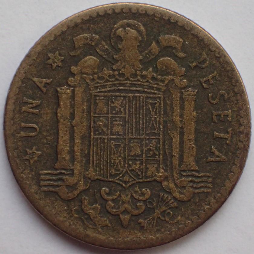 1 Peseta 1947*19-48. Estado Español. EL REVERSO. A41