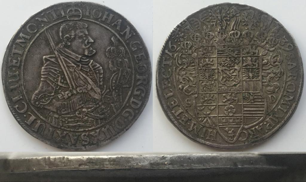 IOHAN GEORGE, THALER 1639 A45
