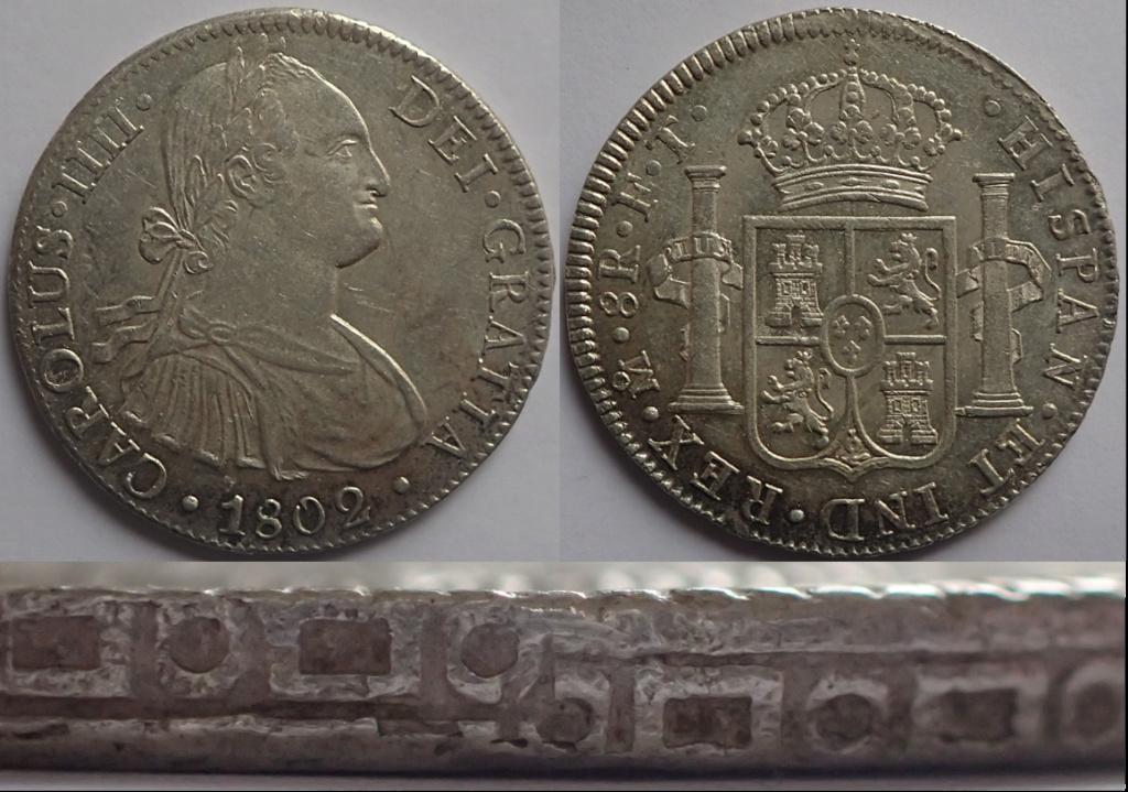 8 reales Carlos IIII. 1802. Mexico. FT. A47