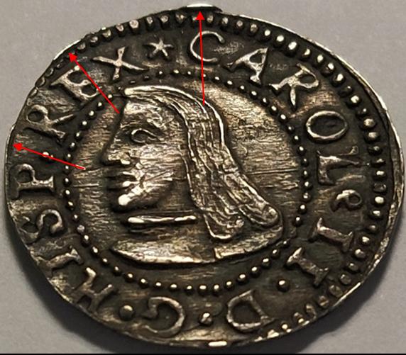 Carlos II : 1 Croat, Barcelona, 1687 A61