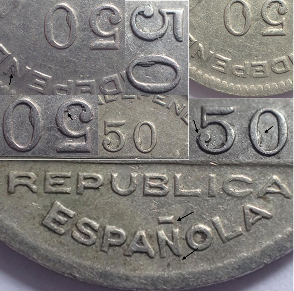 50 céntimos 1937. Consejo Santander, Palencia y Burgos.  Aa11