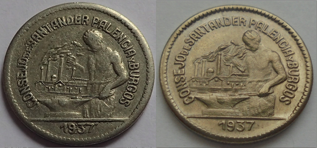50 céntimos 1937. Consejo Santander, Palencia y Burgos.  Aa12
