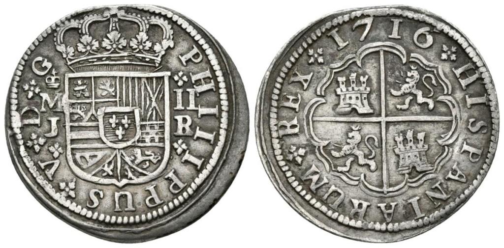 2 Reales Felipe V 1723 - Madrid  Aa15