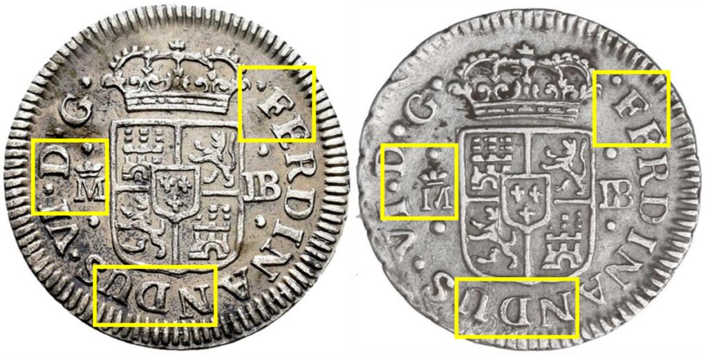 1/2 real. FERNANDO VI. 1757. Madrid. JB Aa18