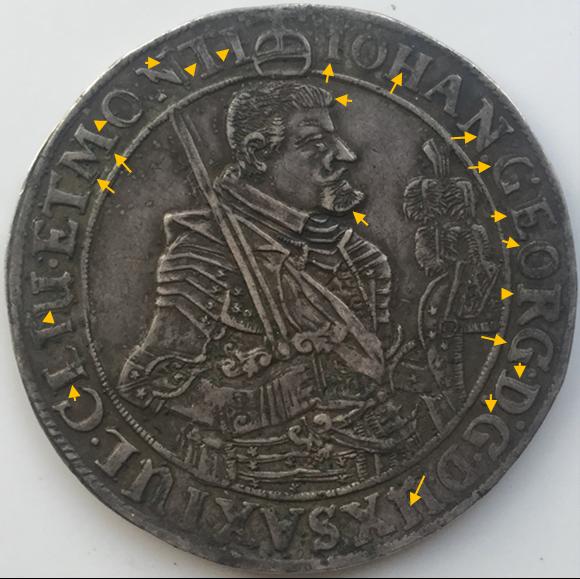 IOHAN GEORGE, THALER 1639 Aa25