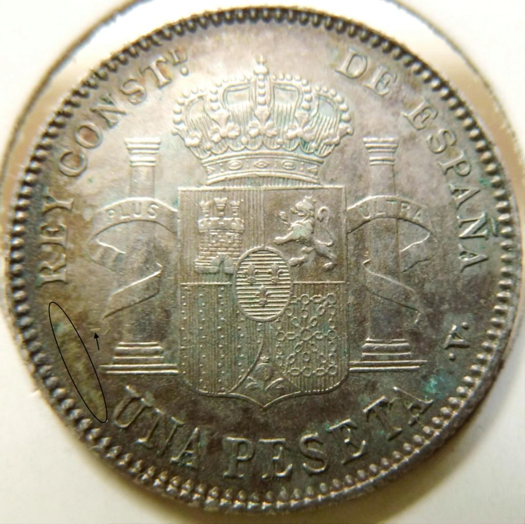 1 peseta. Alfonso XIII. 1899. Sin ensayadores. Aa35