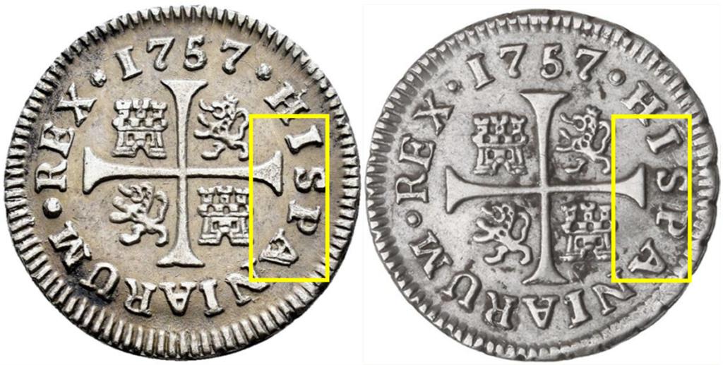 1/2 real. FERNANDO VI. 1757. Madrid. JB Aaa15