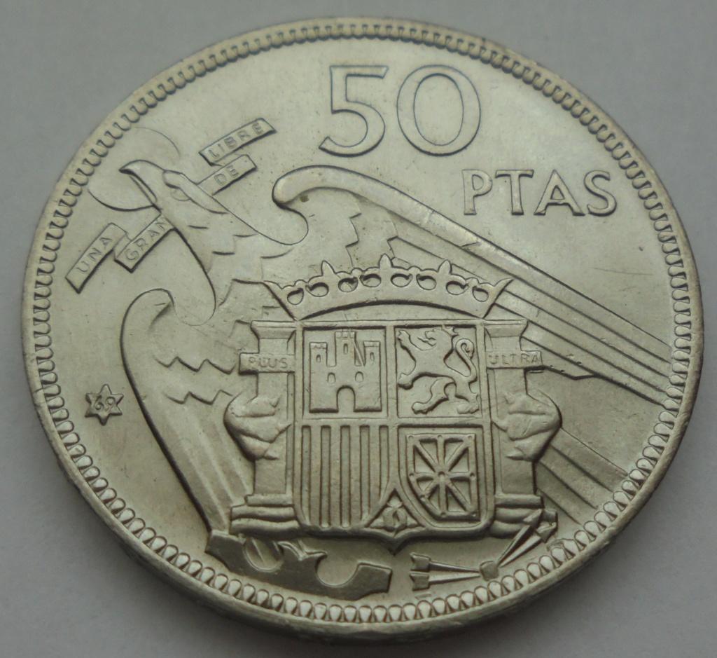 50 pesetas 1969 (*69). Estado Español Dsc07913