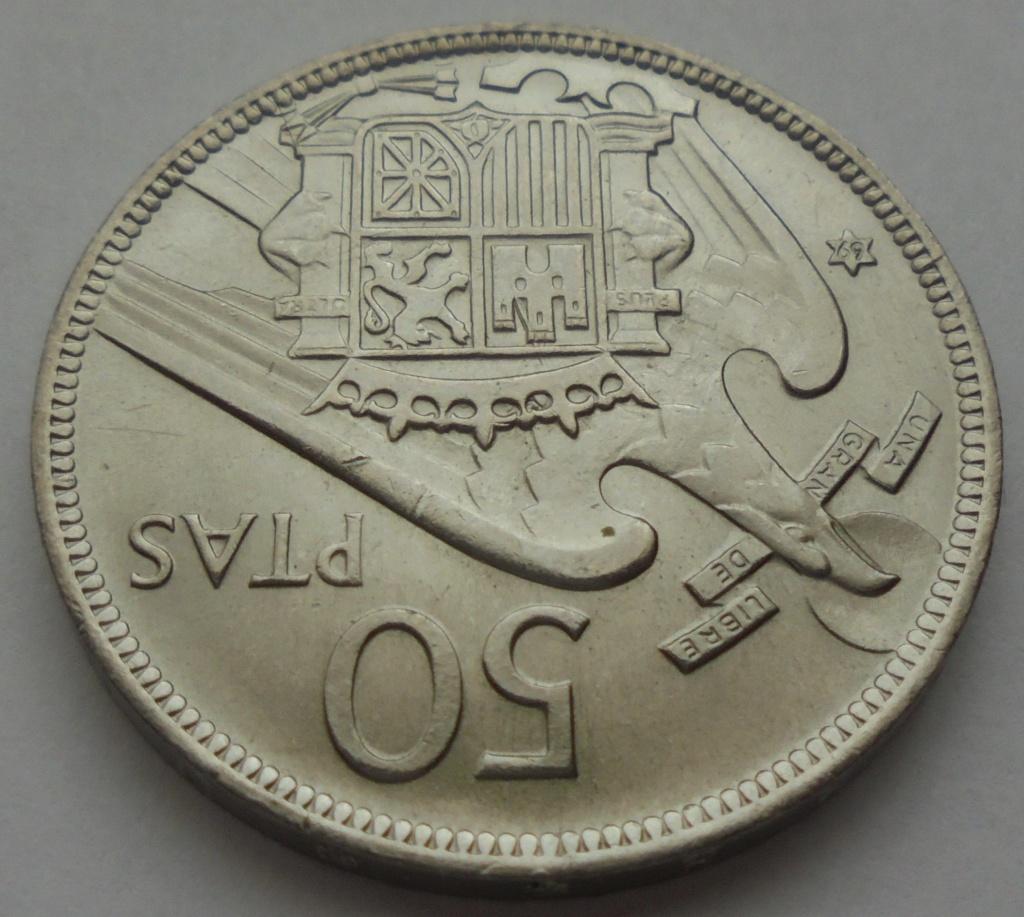 50 pesetas 1969 (*69). Estado Español Dsc07917
