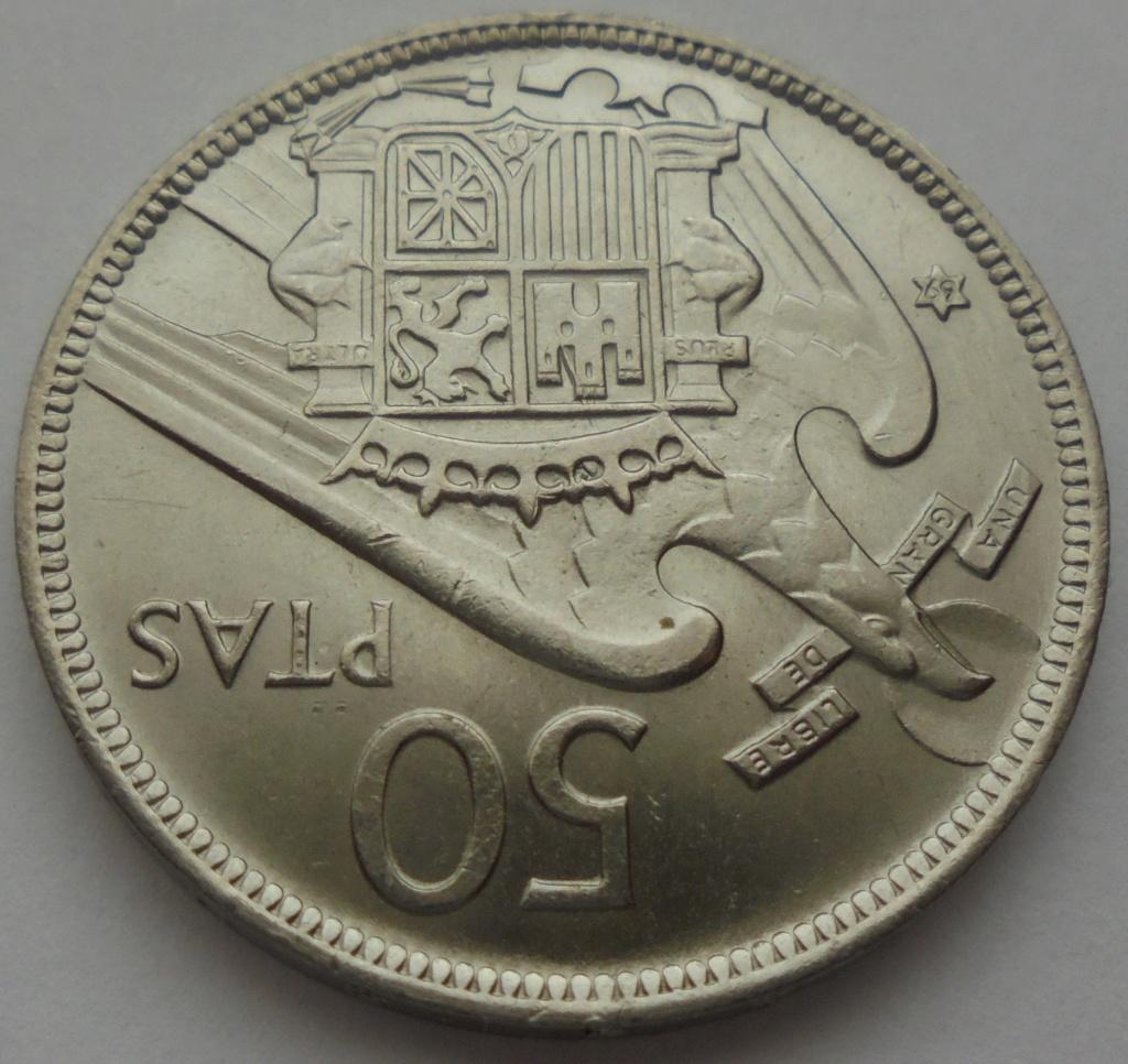 50 pesetas 1969 (*69). Estado Español Dsc07918