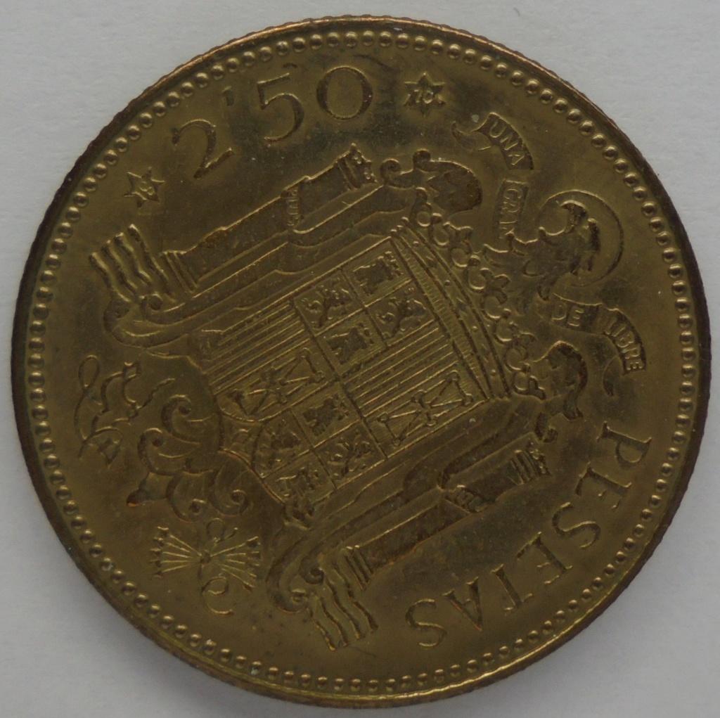 2,50 pesetas 1953 (*19*70). Estado Español Dsc08311