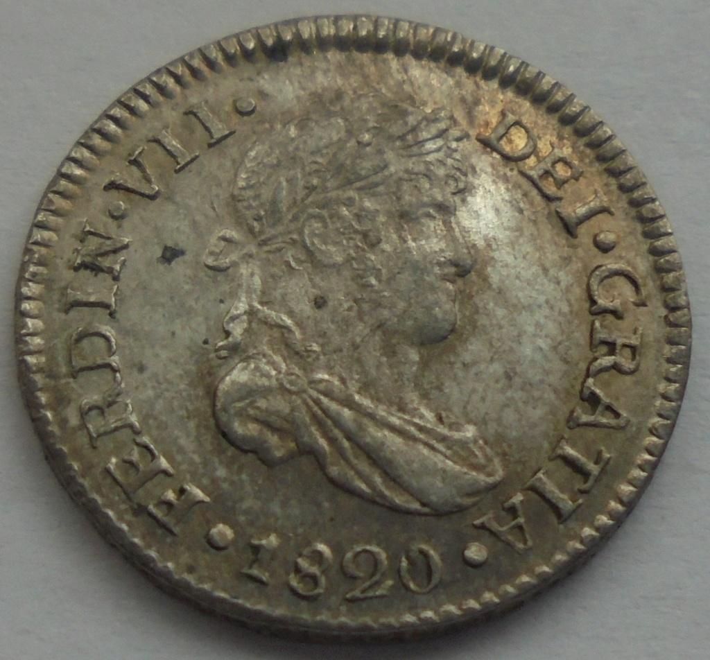 1/2 real  1820. Fernando VII. Guatemala - DEDIT KEKO Dsc09512