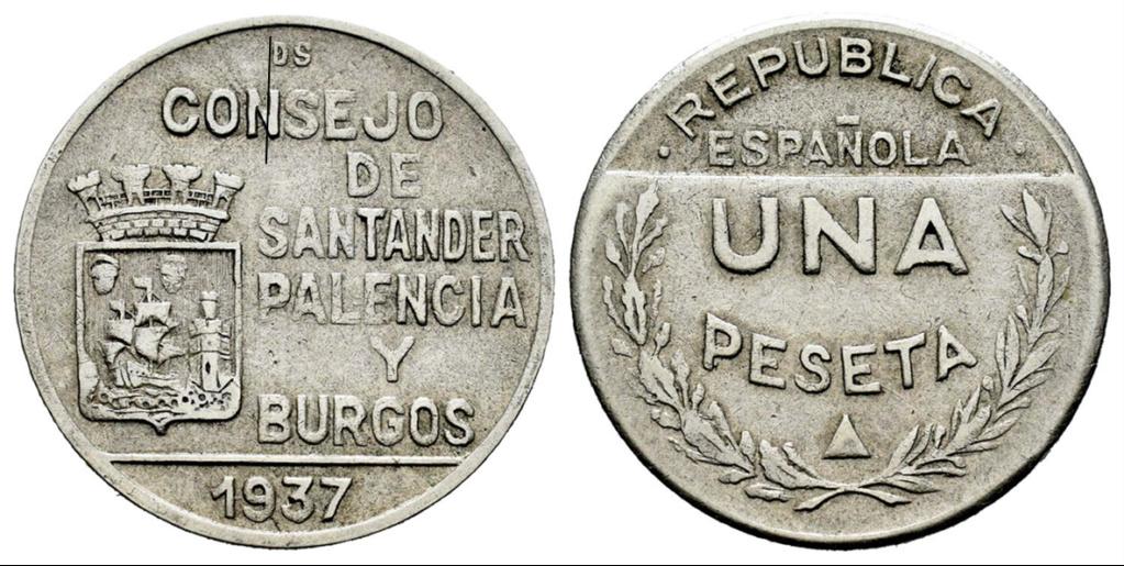 1 Peseta 1937. Consejo Santander Palencia y Burgos. PRUEBA H11