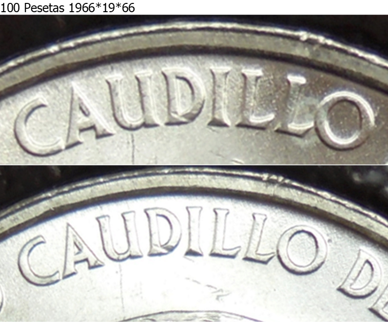100 Pesetas 1966 (*19-69). Palo recto. Estado Español M10