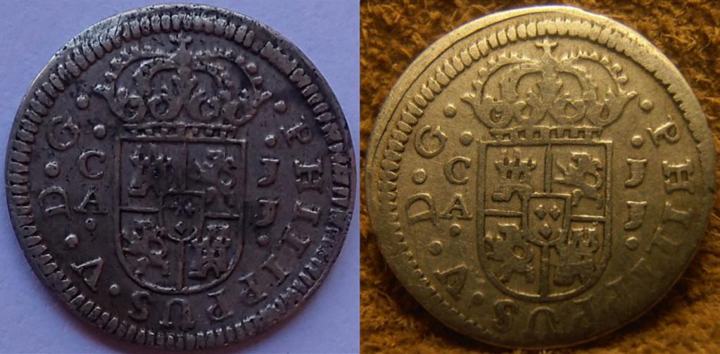 1/2 Real 1719 Felipe V Cuenca JJ O10