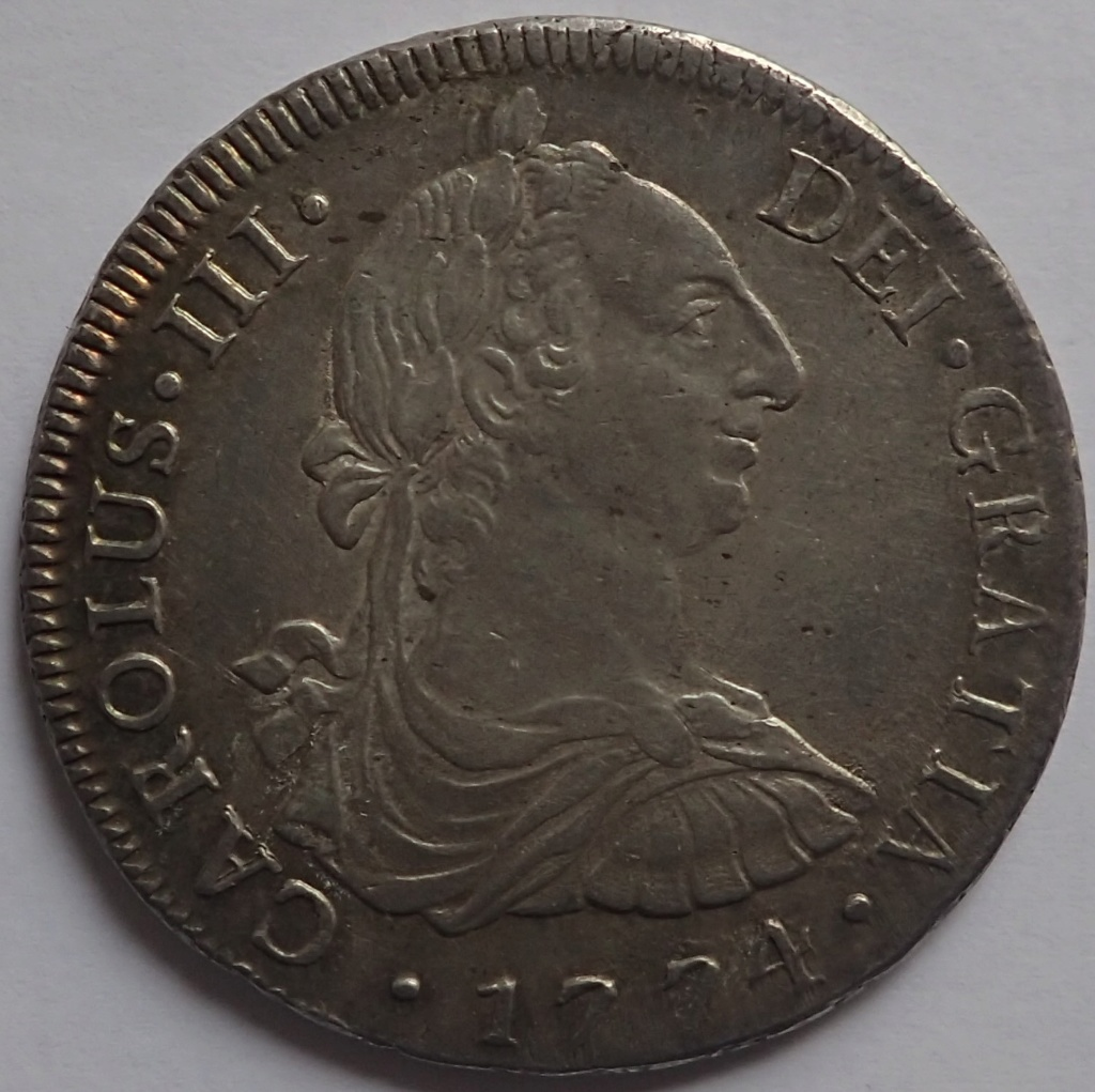 8 Reales de 1774 Carlos III. Lima. MJ P1240014