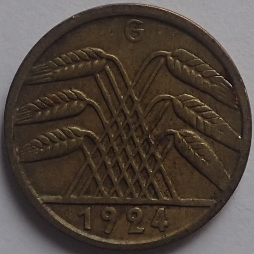 5 Reichspfennig 1924 Alemania P2070416