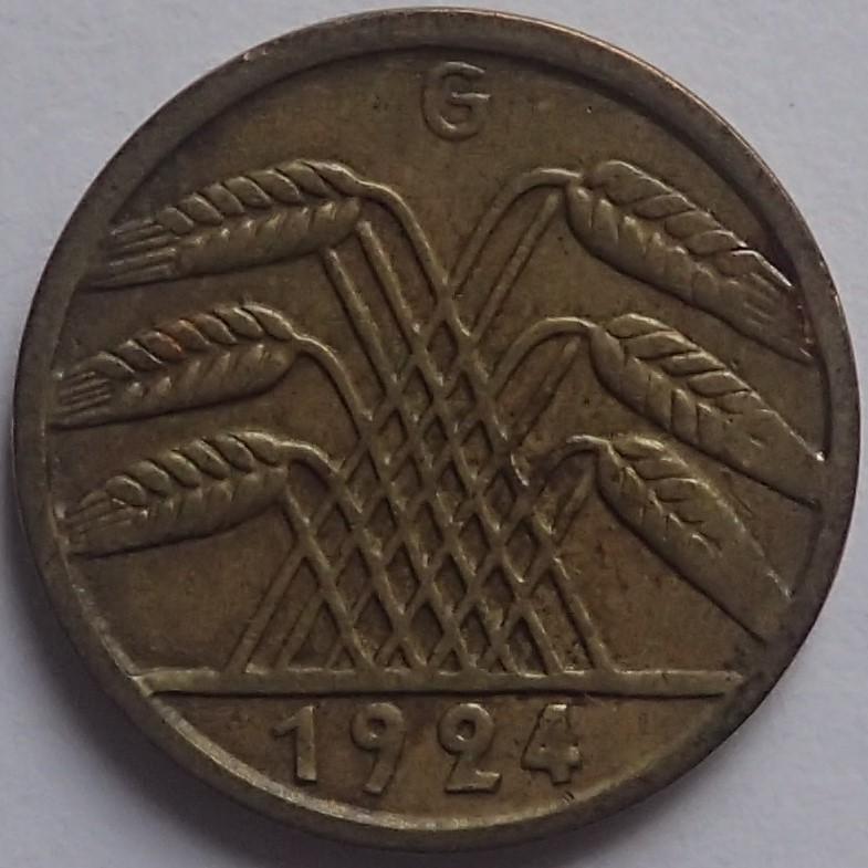 5 Reichspfennig 1924 Alemania P2070514