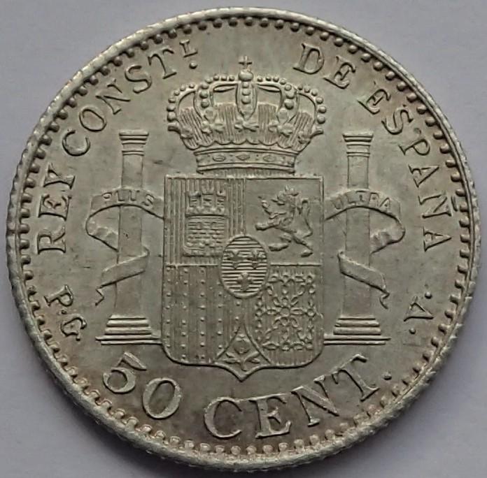 50 Centimos 1896 (*9*6). Alfonso XIII.  Madrid. PG - V. P2260012