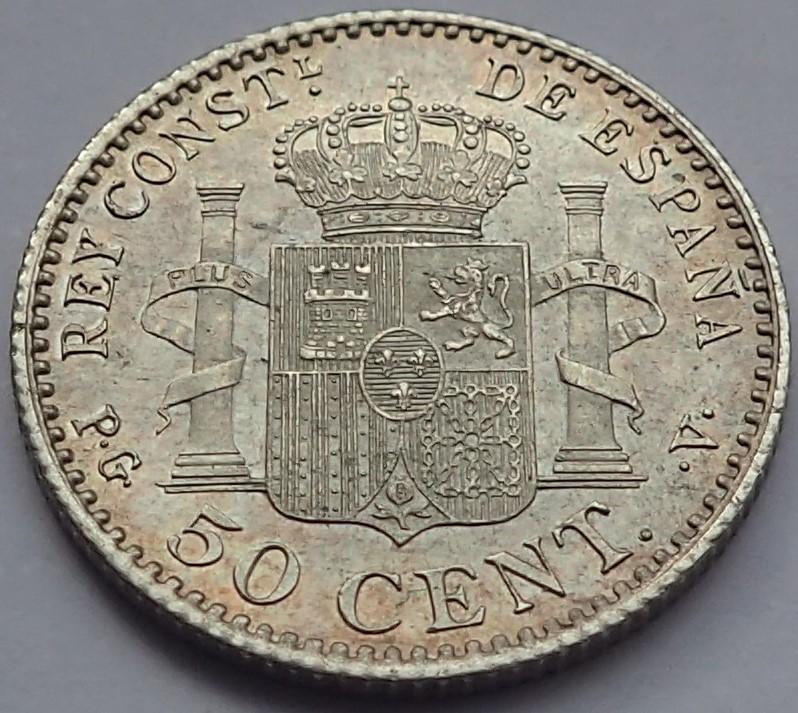 50 Centimos 1896 (*9*6). Alfonso XIII.  Madrid. PG - V. P2260013