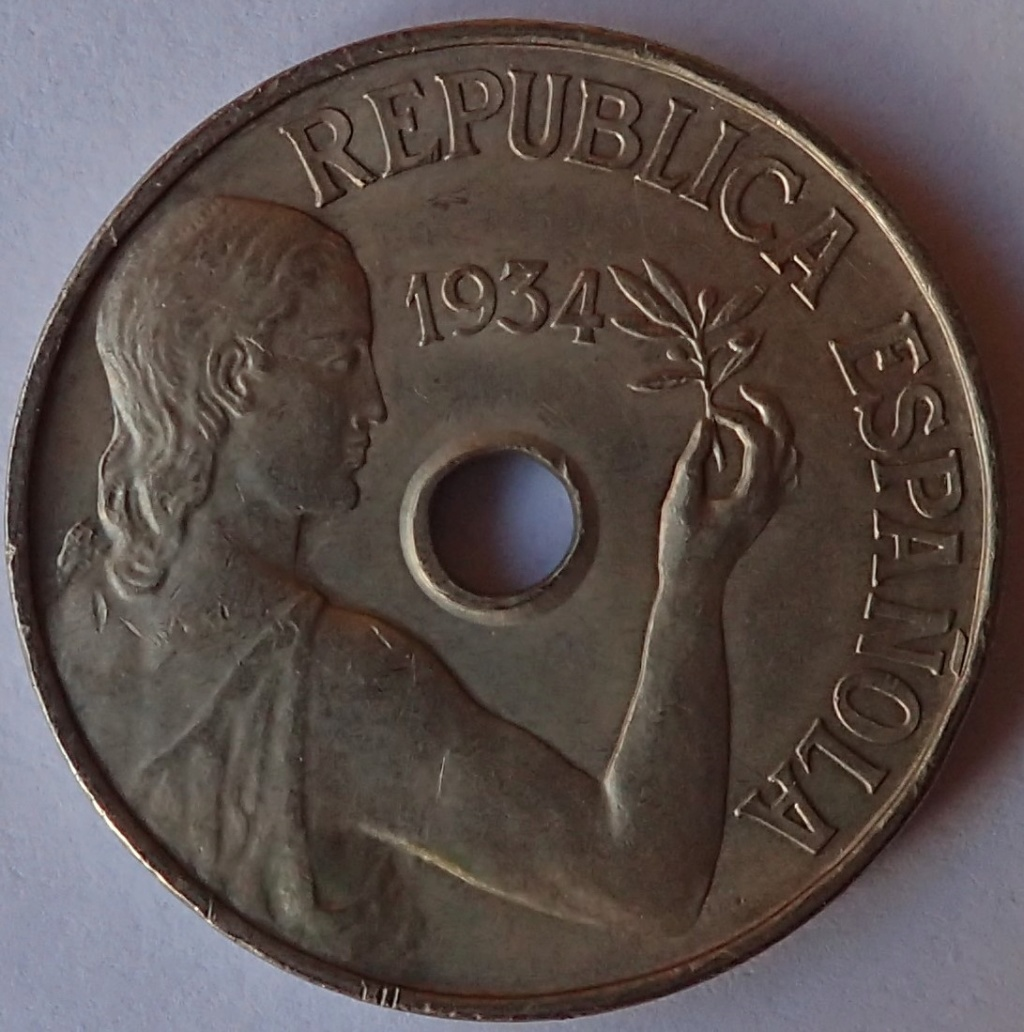 25 Centimos 1934 II Republica DEDICADA A MI HIJO P3080110