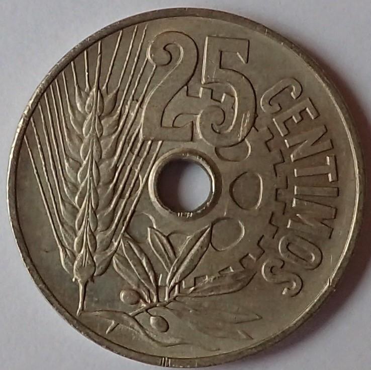 25 Centimos 1934 II Republica DEDICADA A MI HIJO P3080210