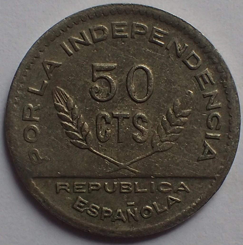 50 céntimos 1937. Consejo Santander, Palencia y Burgos.  P3130313