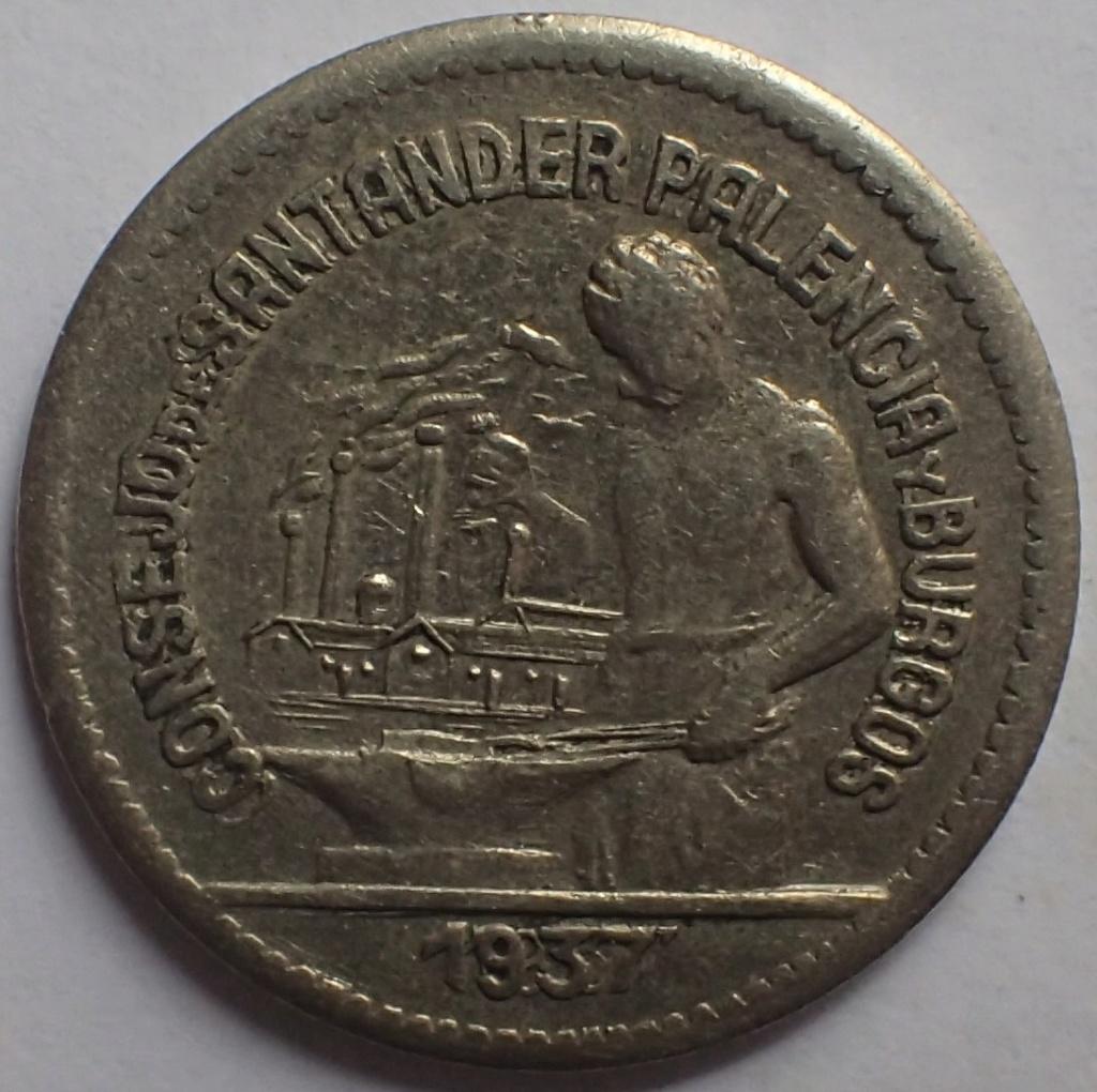 50 céntimos 1937. Consejo Santander, Palencia y Burgos.  P3130314