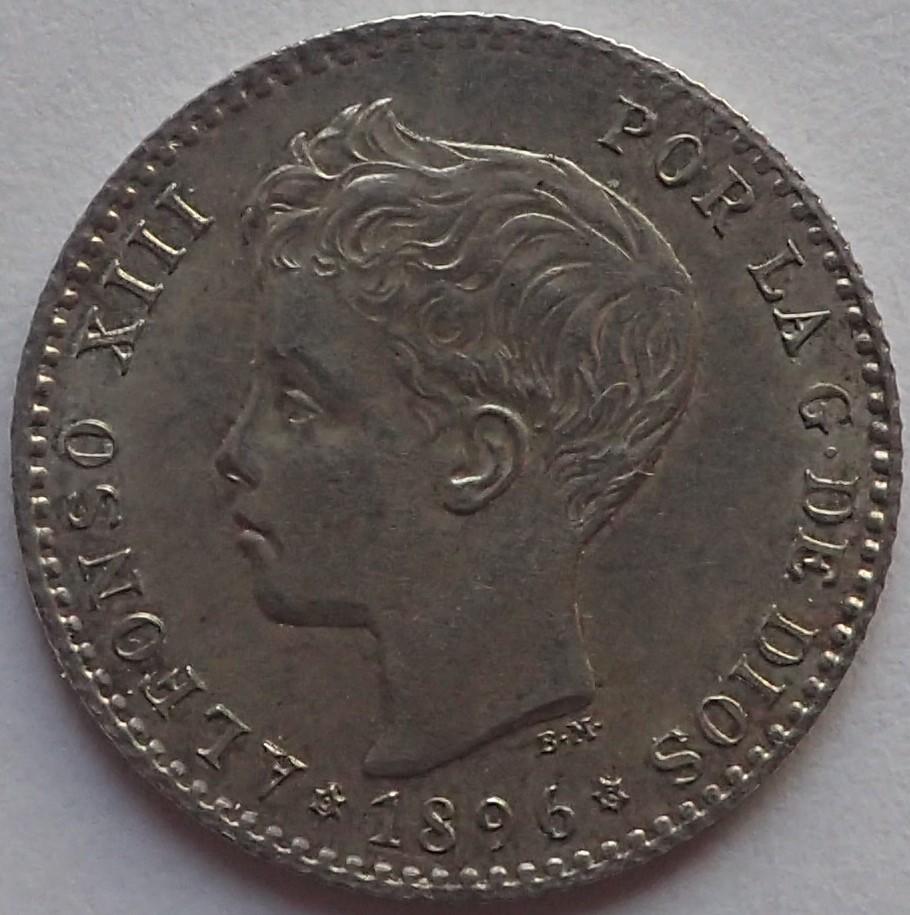 50 Centimos 1896 (*9*6). Alfonso XIII.  Madrid. PG - V. P3300510