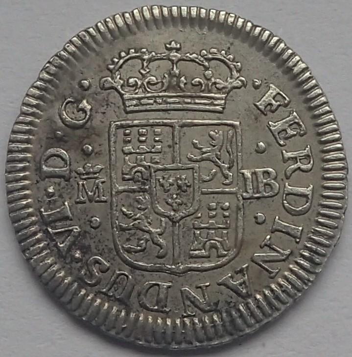 1/2 real. FERNANDO VI. 1757. Madrid. JB P4200014