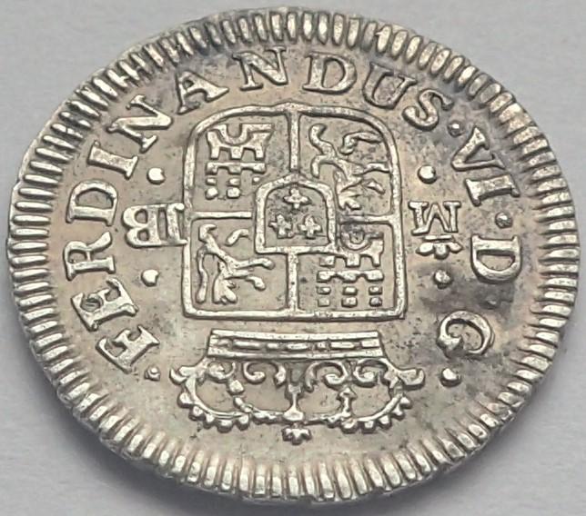 1/2 real. FERNANDO VI. 1757. Madrid. JB P4200015