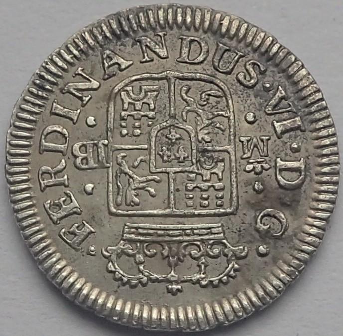 1/2 real. FERNANDO VI. 1757. Madrid. JB P4200016