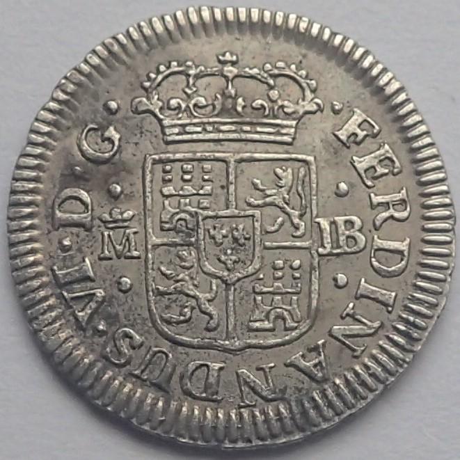 1/2 real. FERNANDO VI. 1757. Madrid. JB P4200110