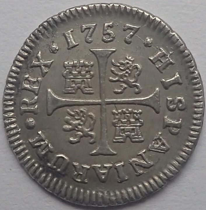 1/2 real. FERNANDO VI. 1757. Madrid. JB P4200111