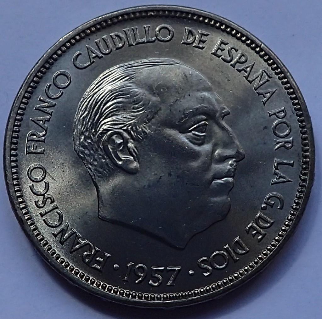 25 pesetas 1957 (*64). Estado Español P5300010