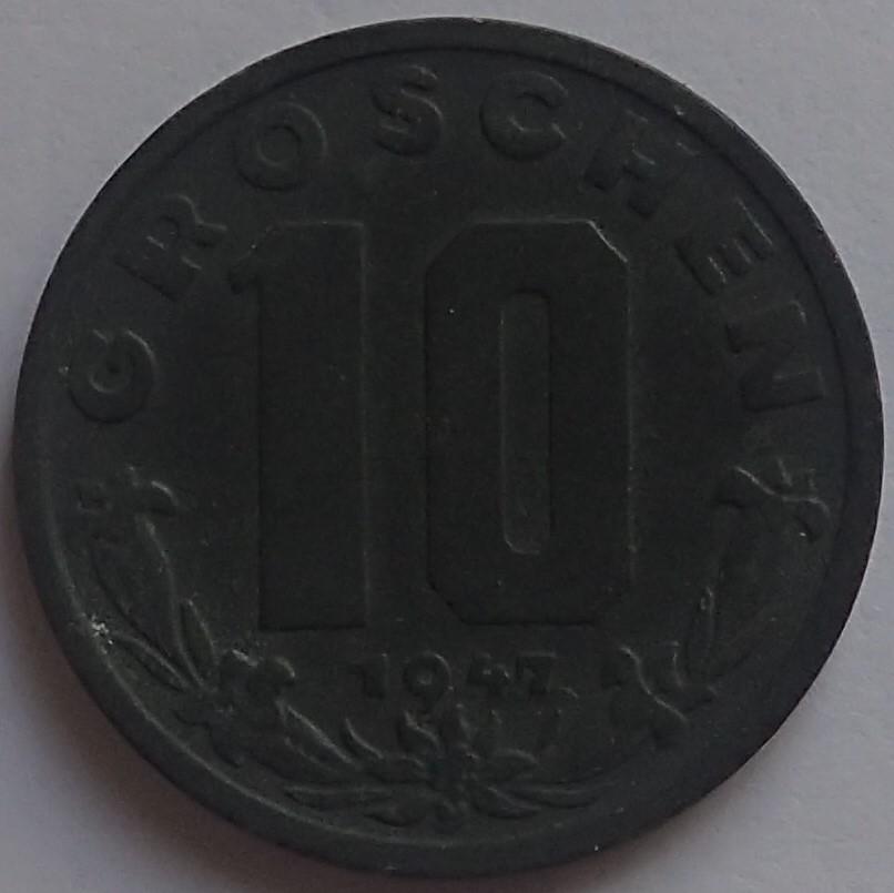 10 Groschen. 1947. Austria. P6170012
