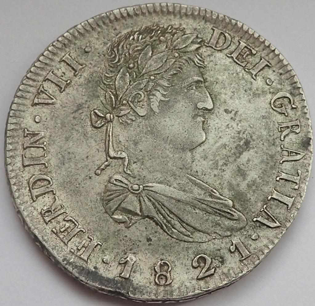 8 Reales Fernando VII. 1821. Zacatecas. RG P9140012