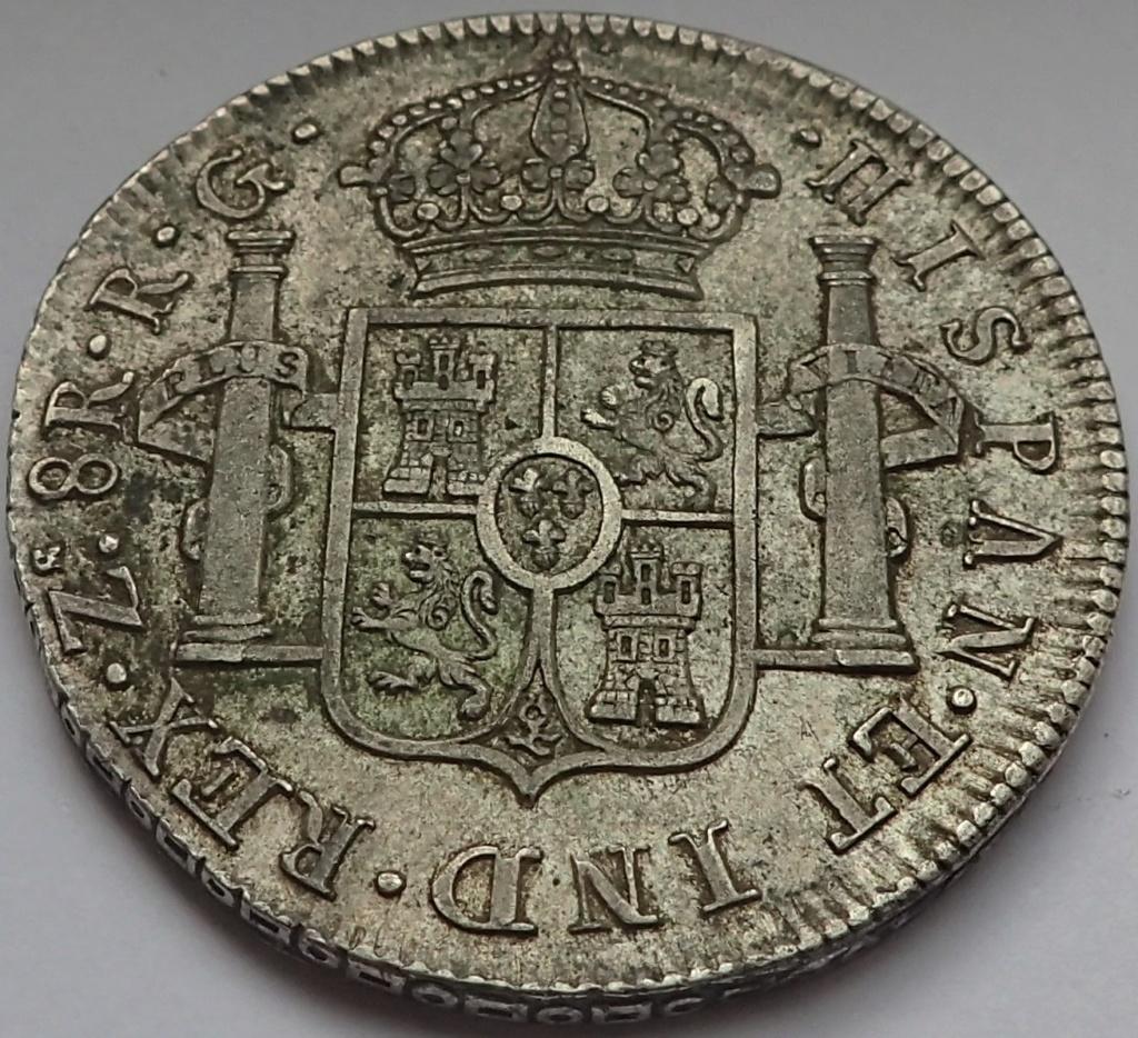 8 Reales Fernando VII. 1821. Zacatecas. RG P9140014