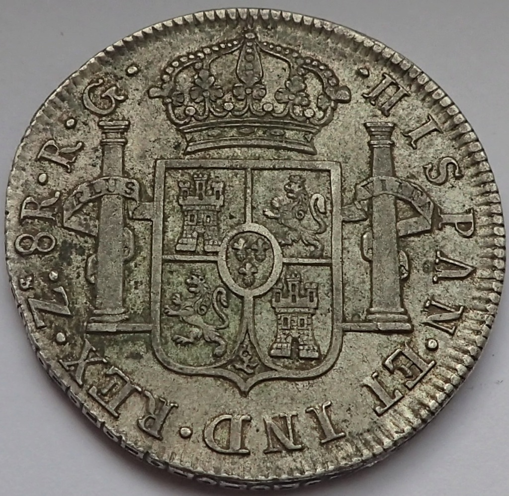 8 Reales Fernando VII. 1821. Zacatecas. RG P9140015