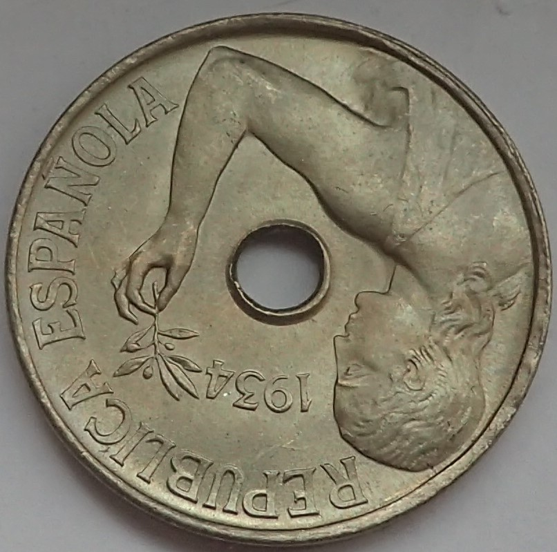 25 céntimos 1934. II República P9140212