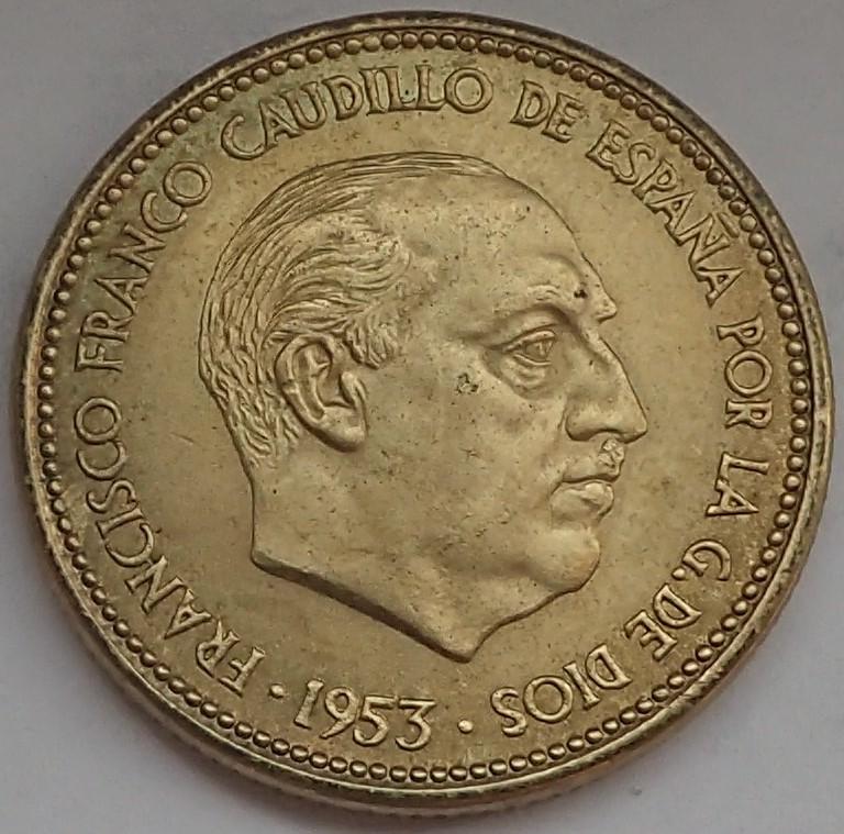 2,50 Pesetas 1953 (*19*54). Estado Español P9140314