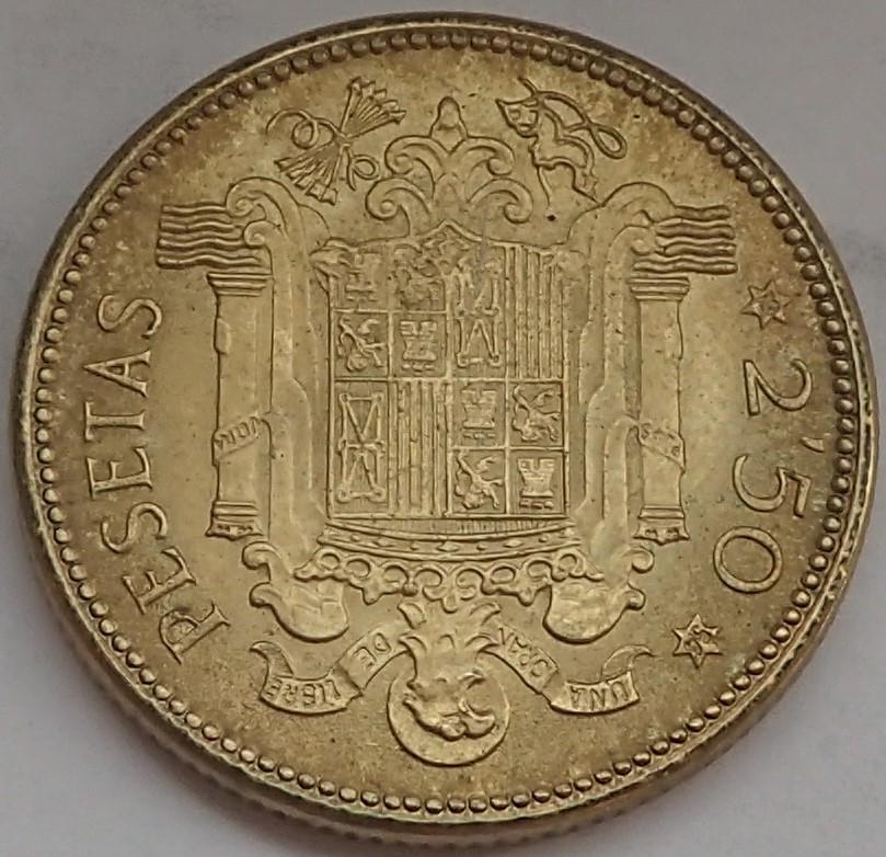 2,50 Pesetas 1953 (*19*54). Estado Español P9140315