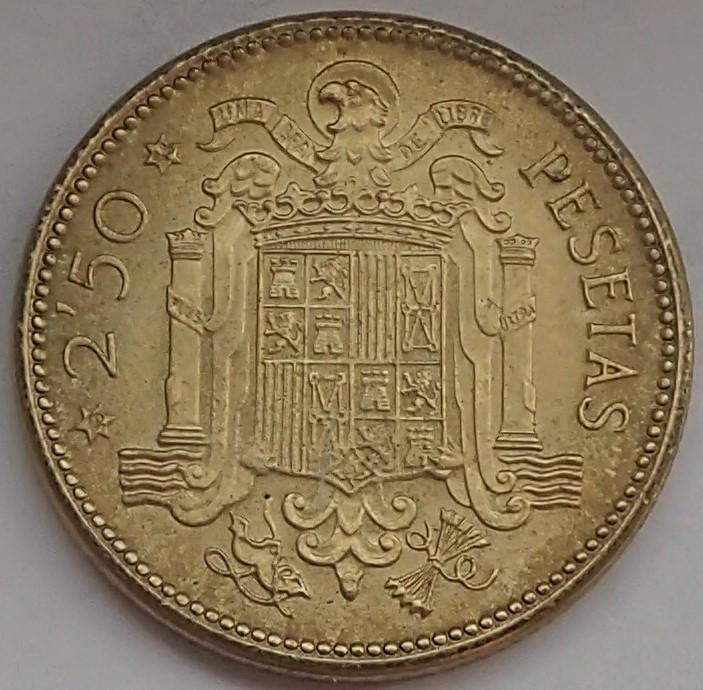 2,50 Pesetas 1953 (*19*54). Estado Español P9140316