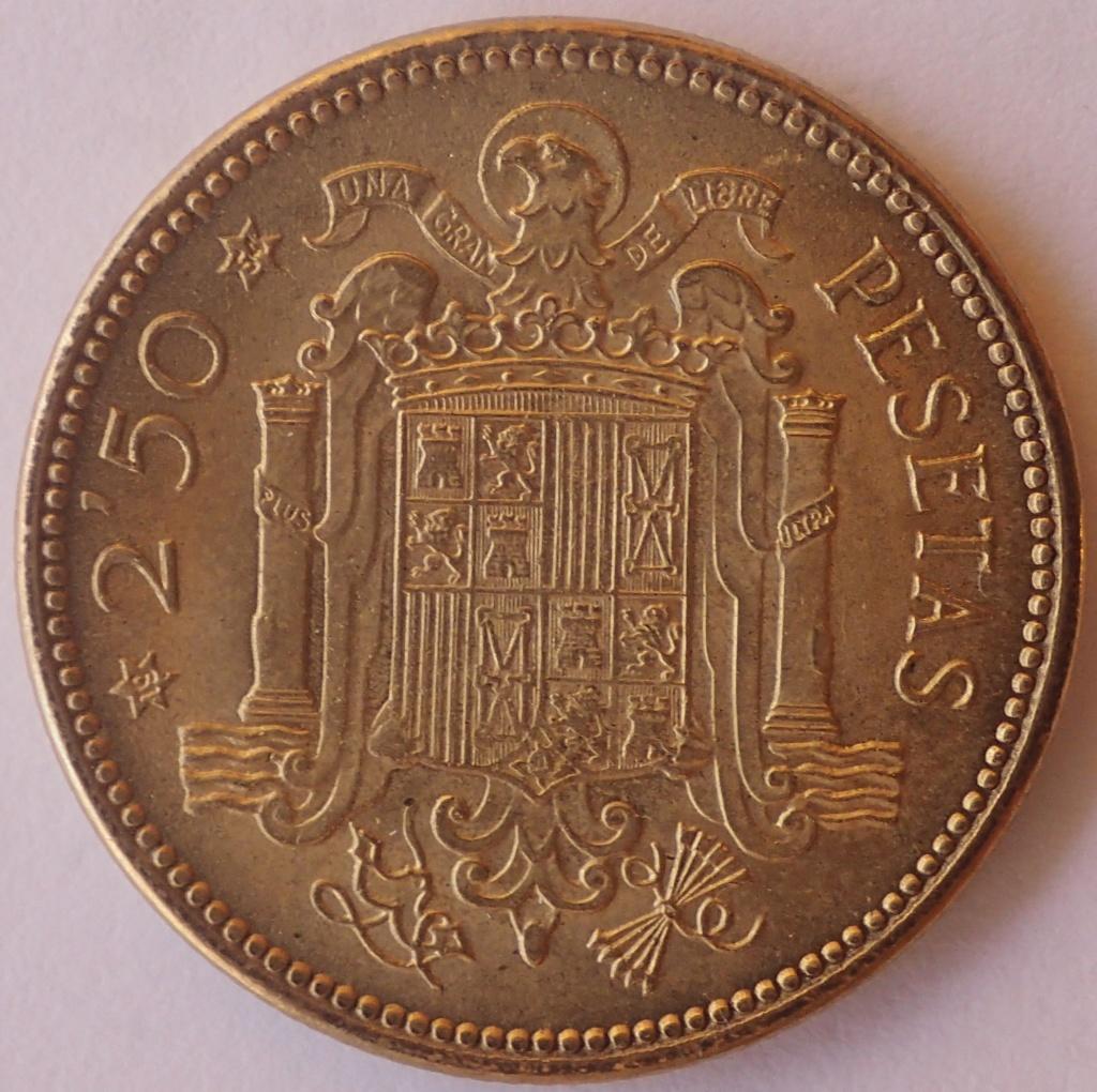 2,50 Pesetas 1953 (*19*54). Estado Español P9260212