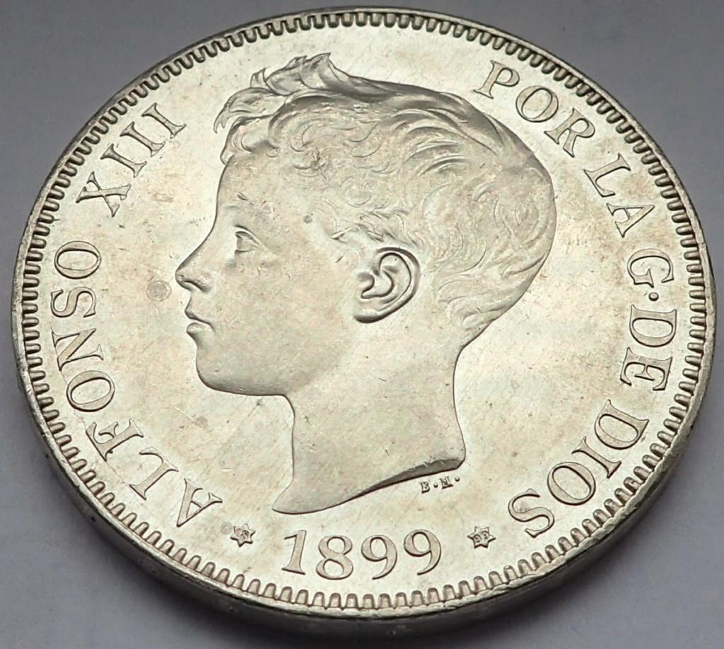 5 Pesetas 1899. Alfonso XIII. SGV Pb170317